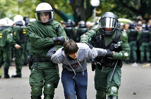 Bei dem Polizeieinsatz gegen Demonstranten im Stuttgarter Schlossgarten am 30. September 2010 wurden Foto: dapd