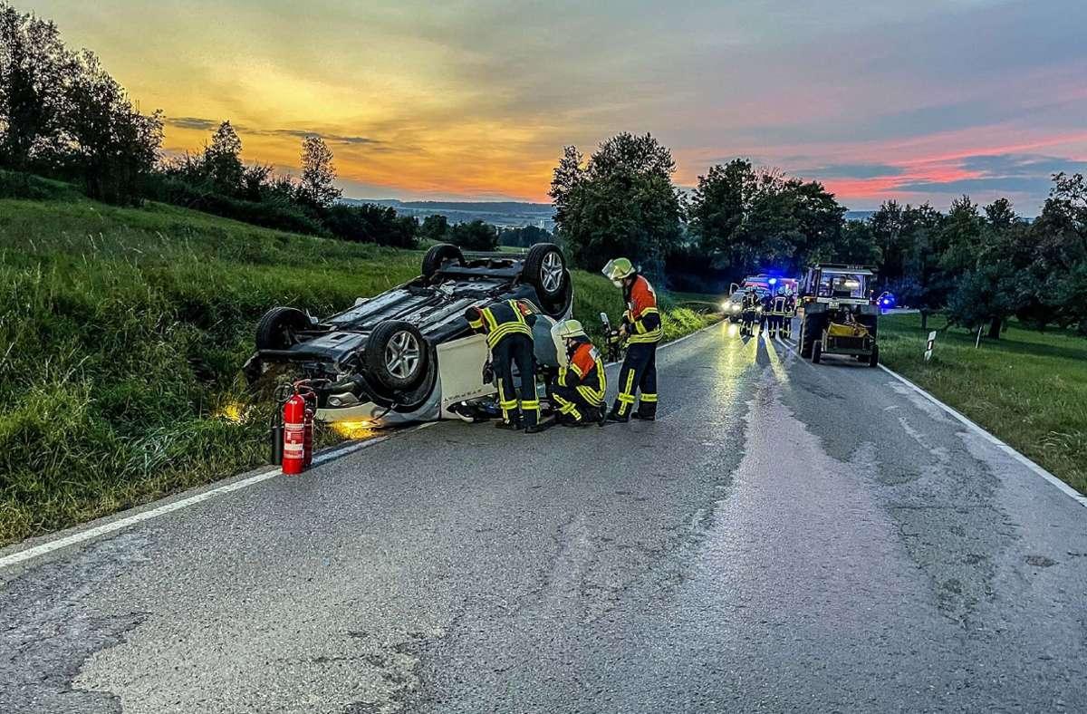 Der Rettungsdienst war mit einem Notarzt, einem Rettungshubschrauber und einem Rettungswagen im Einsatz.  Foto: SDMG/Dettenmeyer