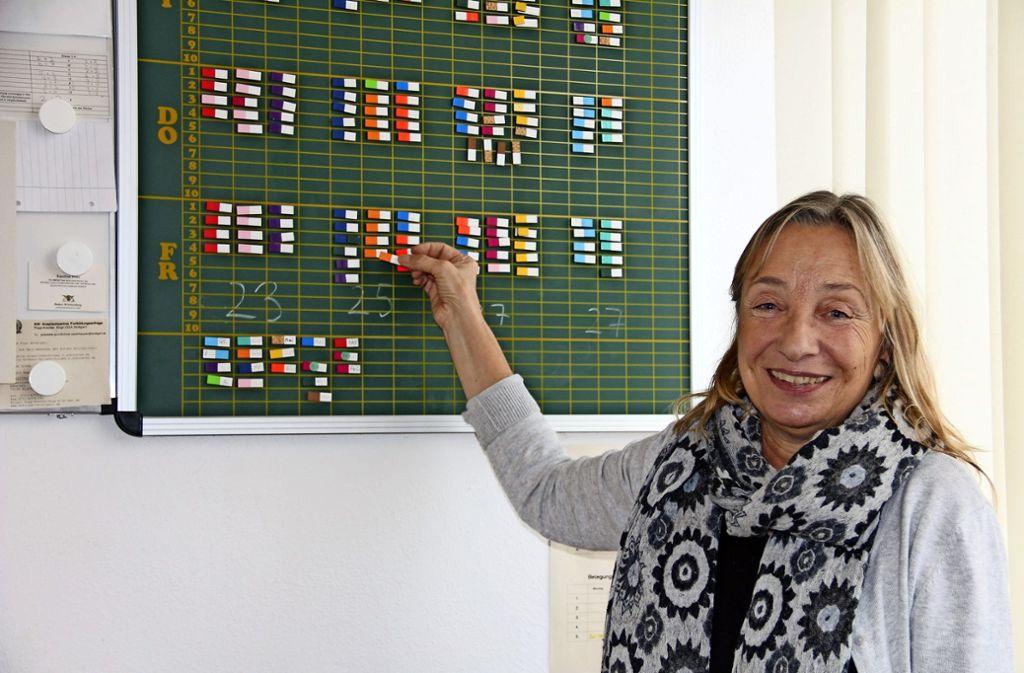 Noch muss  Astrid Arhelger als Schulleiterin Foto: Zeyer, privat