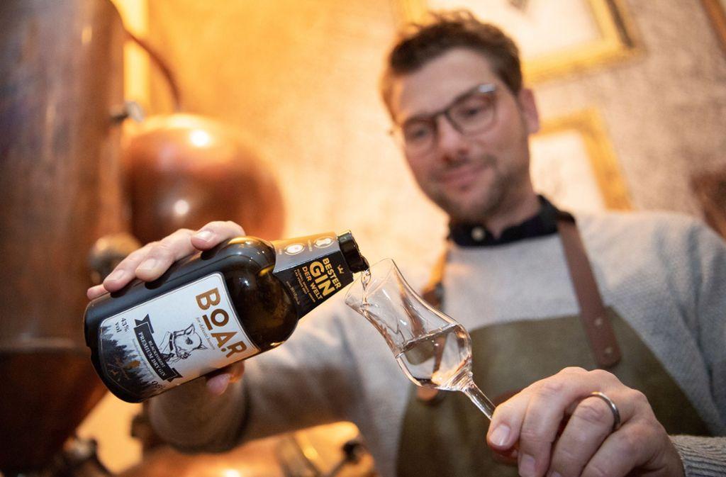 Bei den Global Spirits Awards in Las Vegas  wurde das Getränk aus dem Renchtal zur besten klaren Spirituose gekürt. Foto: dpa/Tom Weller