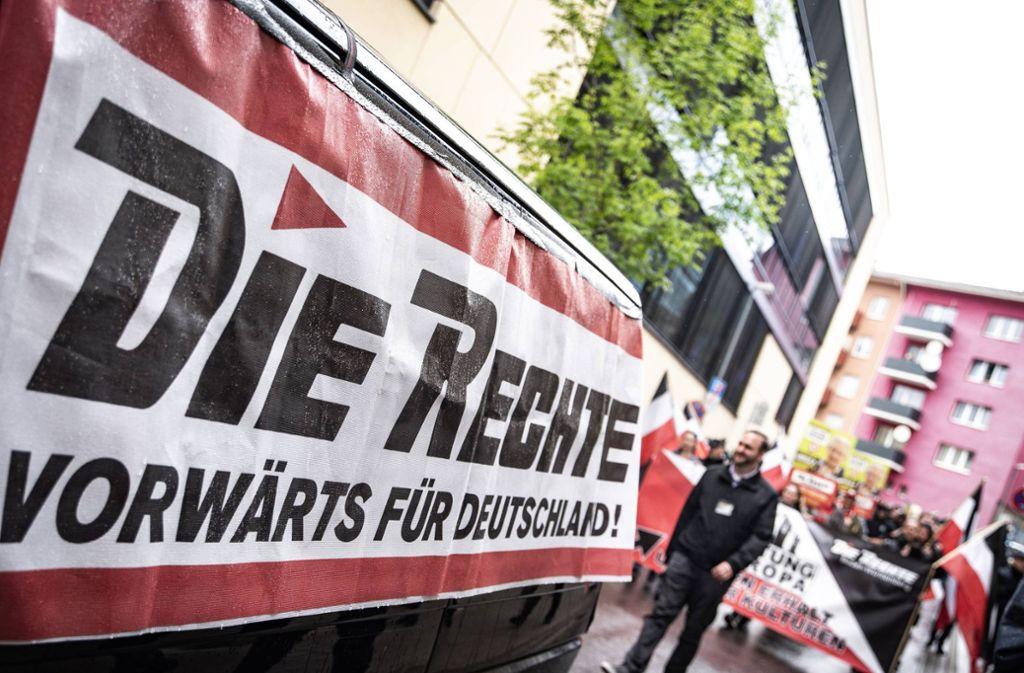 """Die Rechte"""" habe mit einer kleinen Demo reagiert. (Symbolbild) Foto: 7aktuell.de"""