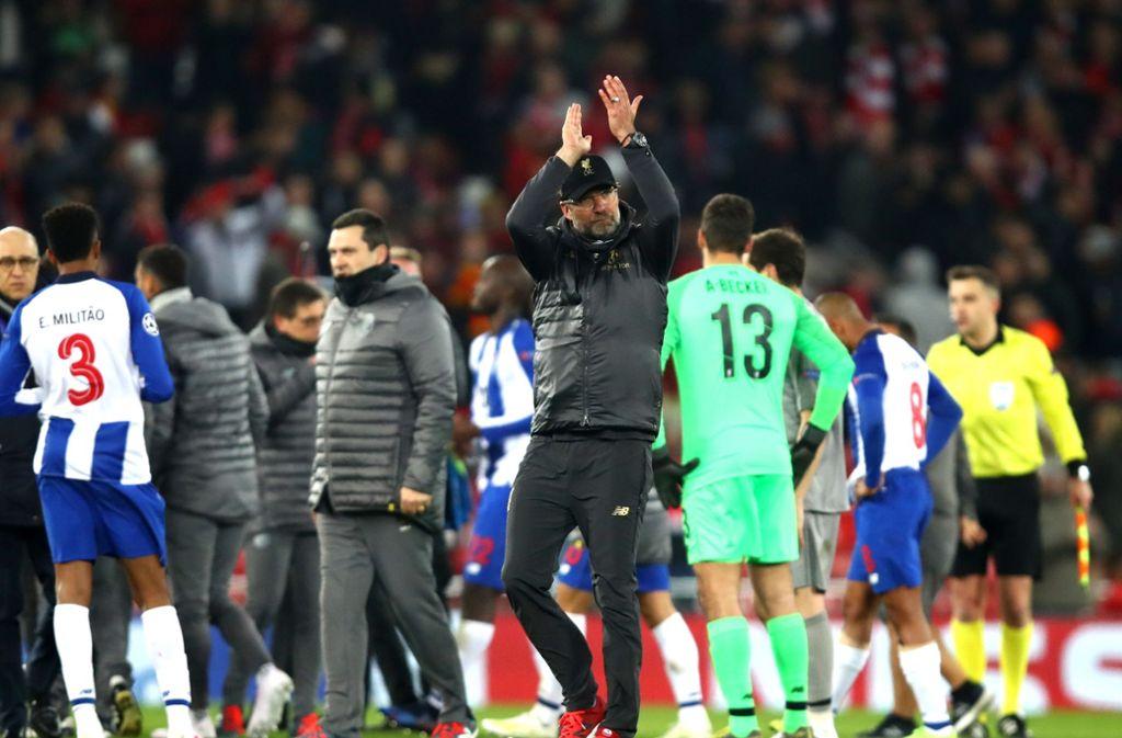 Jürgen Kloop freut sich über den Sieg in der Champions League. Foto: Getty Images Europe
