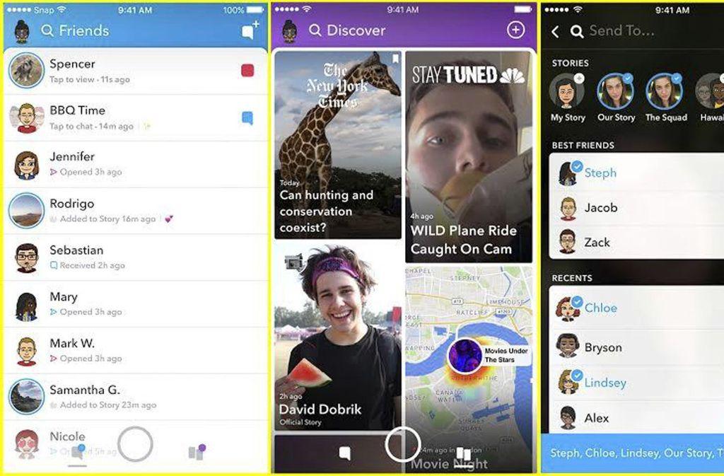 Die Snapchat-App soll dank künstlicher Intelligenz Freunde besser erkennen und sortieren können. Foto: Snapchat