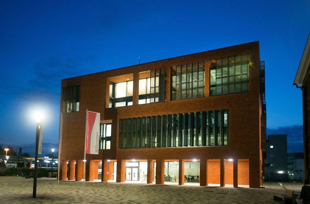 Das neue Eislinger Rathaus schlägt sich im städtischen Haushalt mit einem Vermögenswert von 12 Millionen Euro nieder, das hilft die Finanzlage der Stadt auszutarieren. Foto: Horst Rudel