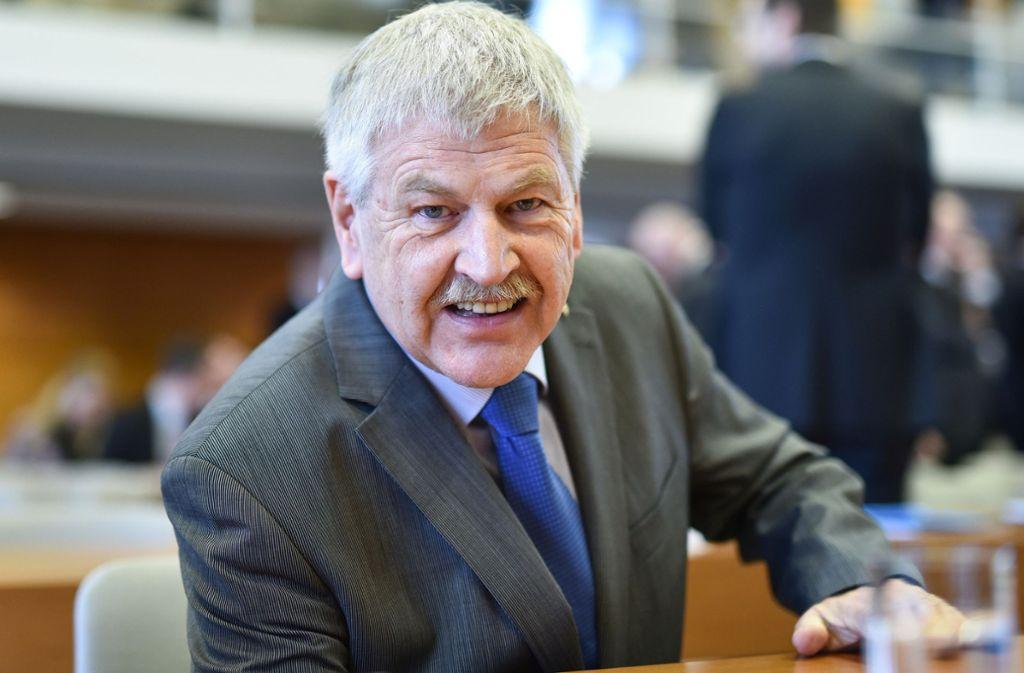 Udo Voigt scheiterte mit seiner Klage am Bundesverfassungsgericht. Foto: dpa/Uwe Anspach