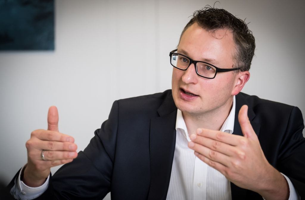 Grünen-Fraktionschef Andreas Schwarz im Interview. Foto: Lichtgut/Achim Zweygarth
