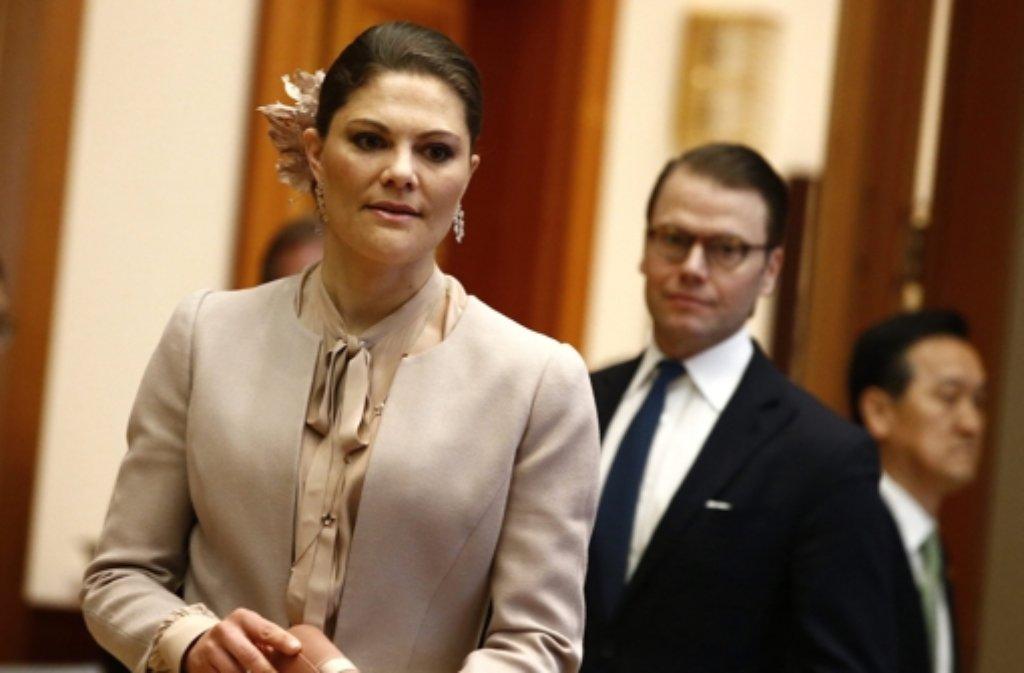 Kronprinzessin Victoria von Schweden und ihr Mann Prinz Daniel sind in Südkorea zu Gast. Foto: dpa