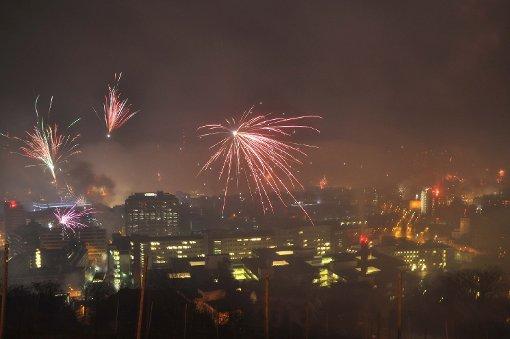 Stuttgart begrüßt das Jahr 2016