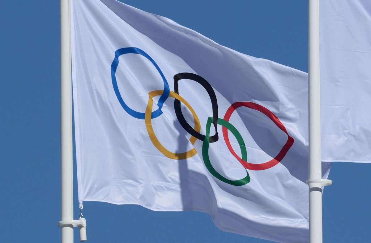 Die fünf Ringe auf weißem Hintergrund haben eine besondere Bedeutung. Foto: imago/Sven Simon/imago sportfotodienst