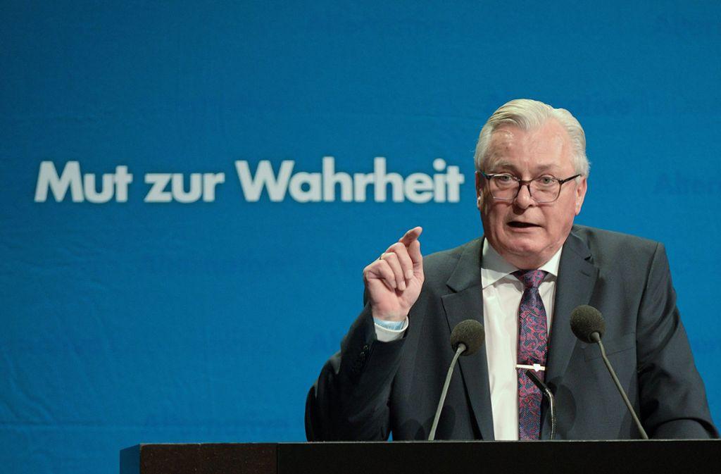 Unter Druck: AfD-Landes- und Fraktionschef Bernd Gögel Foto: dpa/Stefan Puchner
