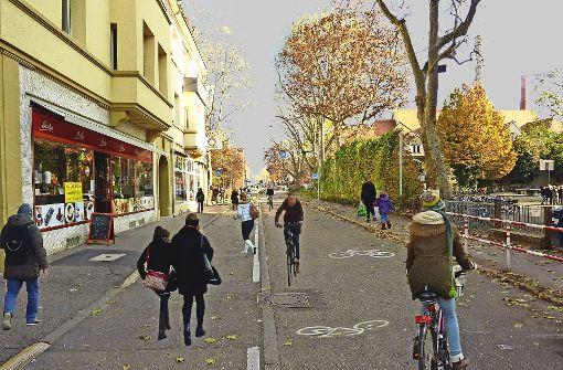 Alleenstraße ohne Autos