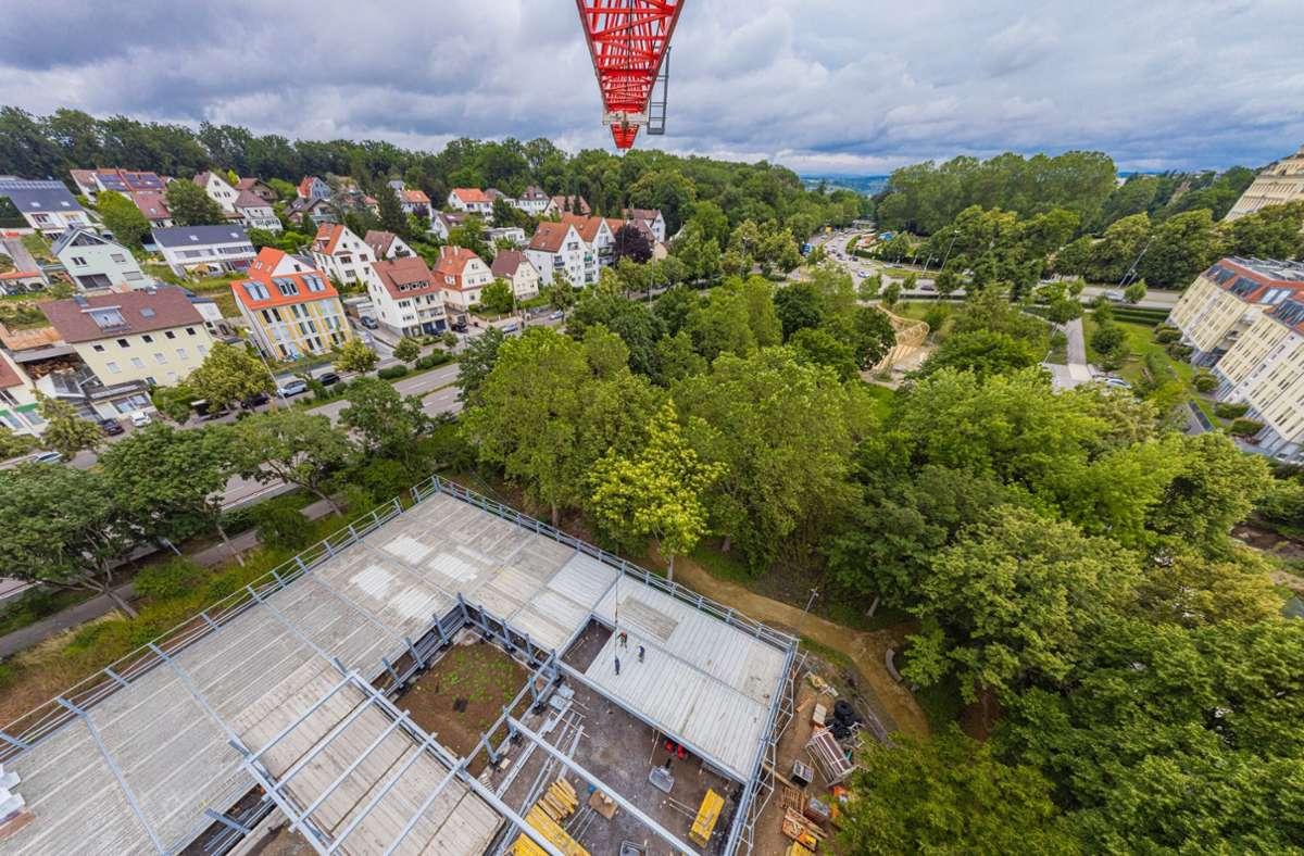 Blick über den Walcker-Park in Ludwigsburg. Foto: SWLB/cf