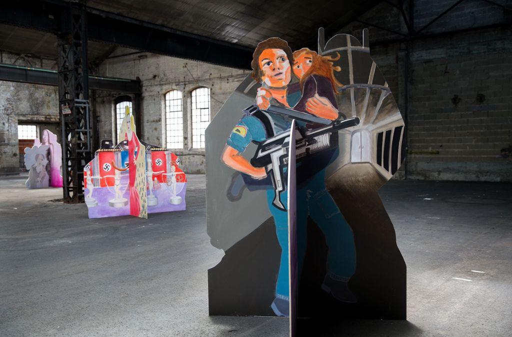 """Hier war sie noch intakt:  Die Ausstellung """"Good Space"""" in der Königlichen Eisenbahnwerkstadt in Esslingen. Foto: Ines Rudel"""