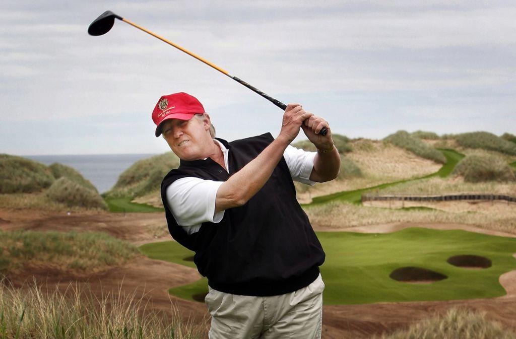 Golf spielt Donald Trump offenbar nach seinen ganz eigenen Regeln. Foto: dpa