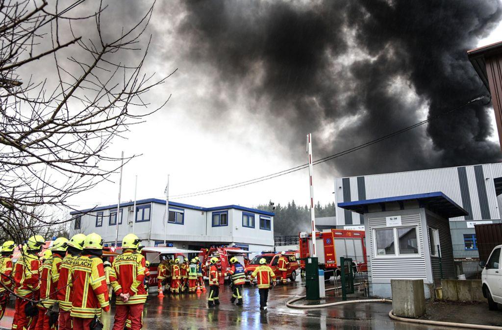 Drei Tage nach dem Brand in einem Betrieb in Böhmenkirch konnte die Ursache noch nicht ermittelt werden. Foto: 7aktuell.de/Christina Zambito