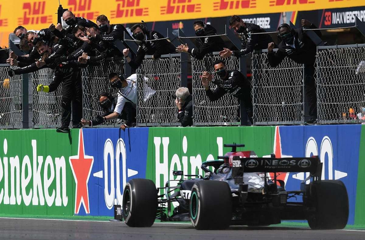 Lewis Hamilton hat den Großen Preis von Portugal gewonnen. Foto: AFP/PATRICIA DE MELO MOREIRA