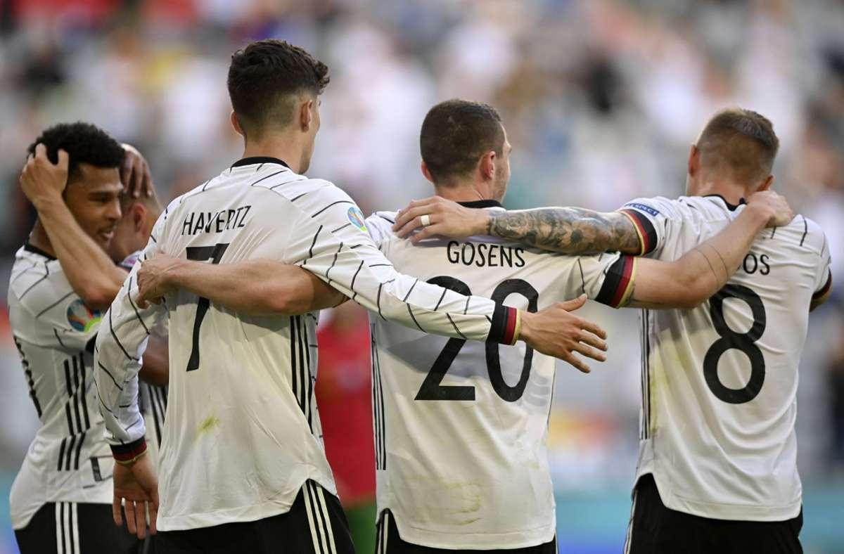 Erreicht Deutschland bei der EM 2021 das Achtelfinale? Foto: dpa/Philipp Guelland