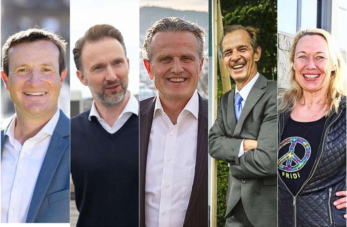 Martin Körner, Sebastian Reutter, Frank Nopper, Werner Ressdorf, Friedhild Miller geben im zweiten Teil Antworten. Foto: Lichtgut//Robin Rudel