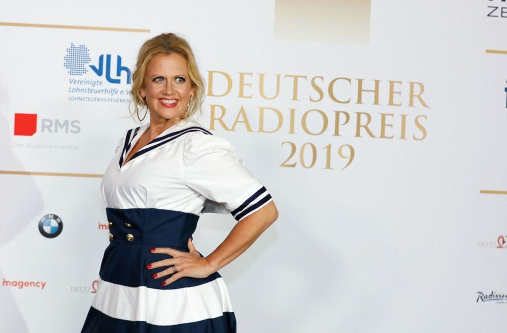 Barbara Schöneberger auf der Verleihung des 10. Deutschen Radiopreises: Die Moderatorin ist künftig auf Antenne 1 zu hören. Foto: dpa/Georg Wendt
