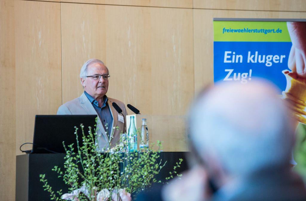 Die Freien Wähler vertrauen auf ihren Fraktionsvorsitzenden Jürgen Zeeb. Foto: Lichtgut/Julian Rettig
