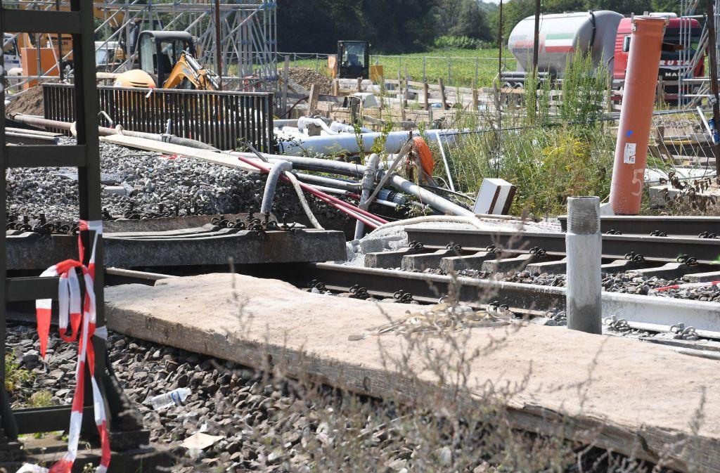 Nichts geht momentan auf der Strecke der Rheintalbahn. Foto: dpa