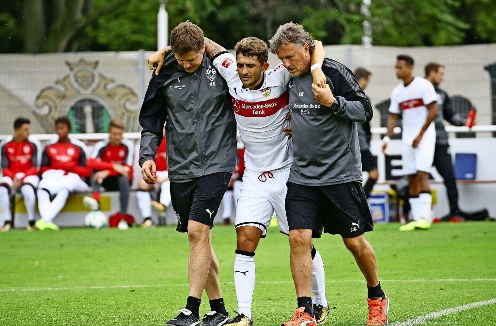 Zimmermann zog sich seine schwere Verletzung im Testspiel gegen den FC Ingolstadt zu Foto: Baumann