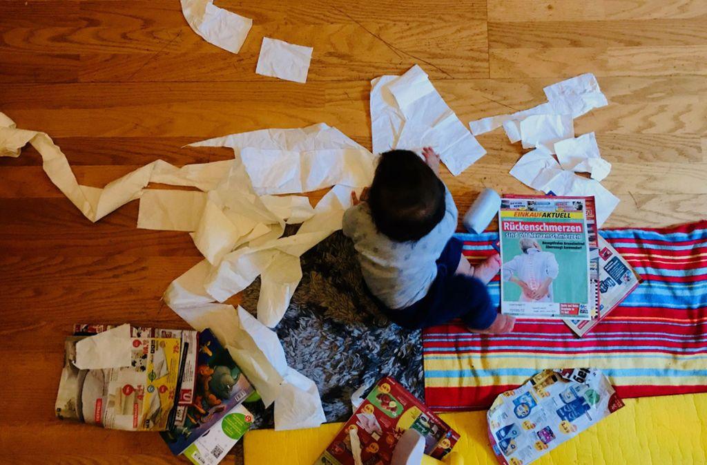 Besser geht's nicht: Mit Kind im Haus ist ständig Chaos zu Hause. Foto: