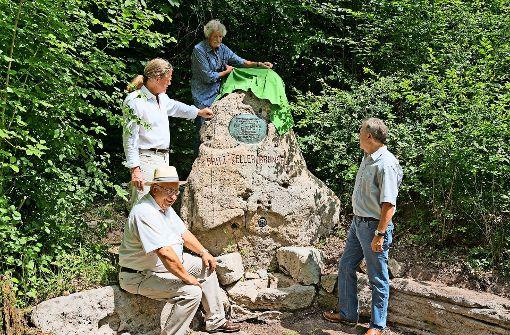 Gedenkstein erstrahlt in neuem Glanz