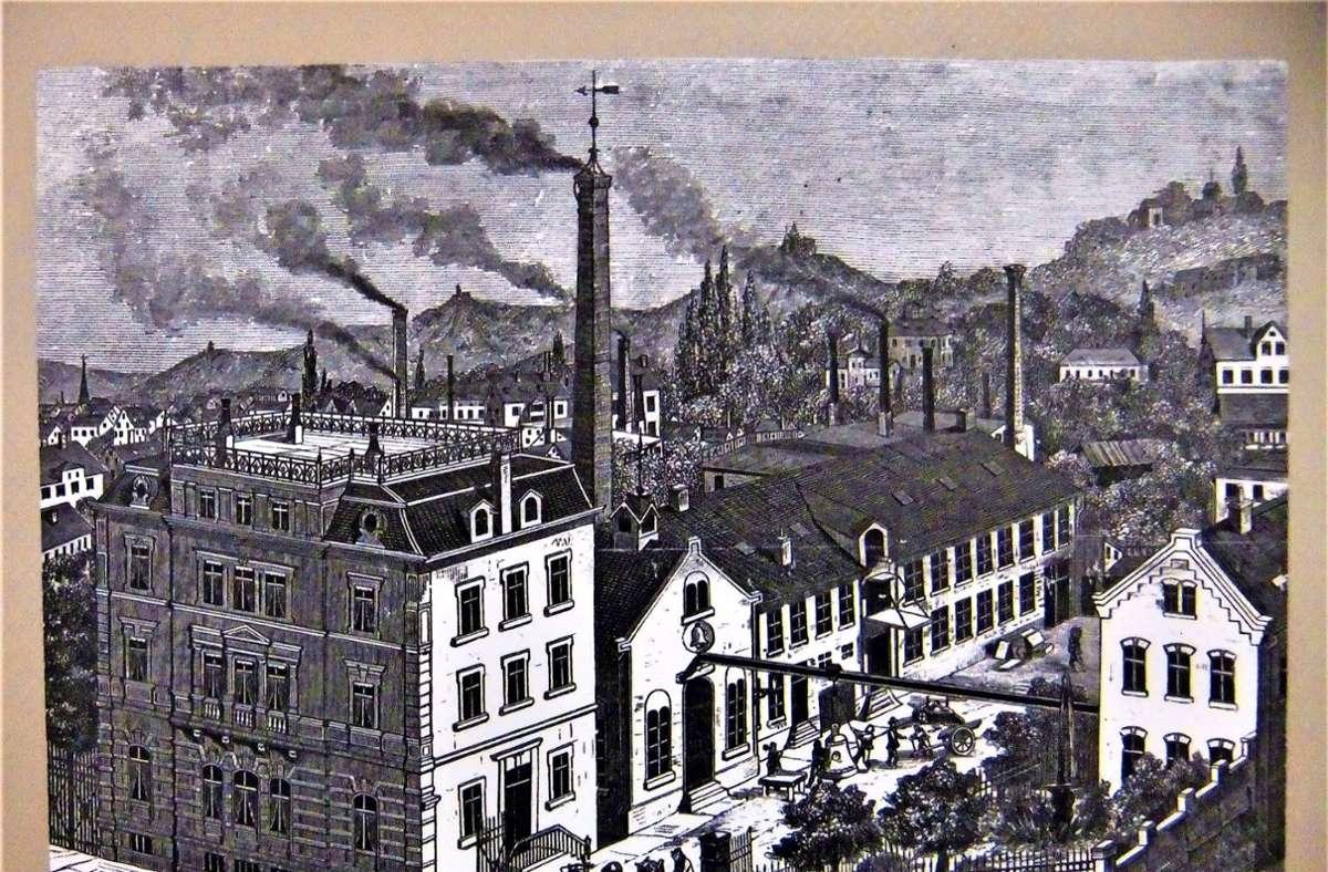Die  Glockengießerei Kurtz (Heusteigstraße)  mit dem Wohngebäude von 1875 Foto: J.  Haase