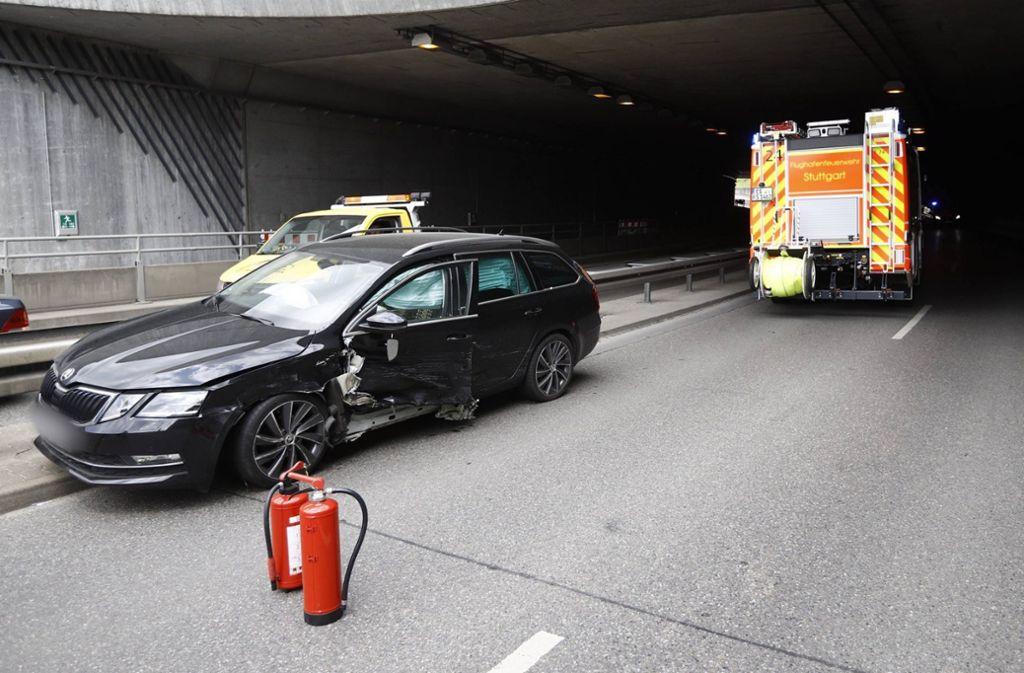 Der Skoda-Fahrer fuhr entgegen der Fahrtrichtung in den Tunnel ein. Foto: 7aktuell.de/Simon Adomat/7aktuell.de | Simon Adomat