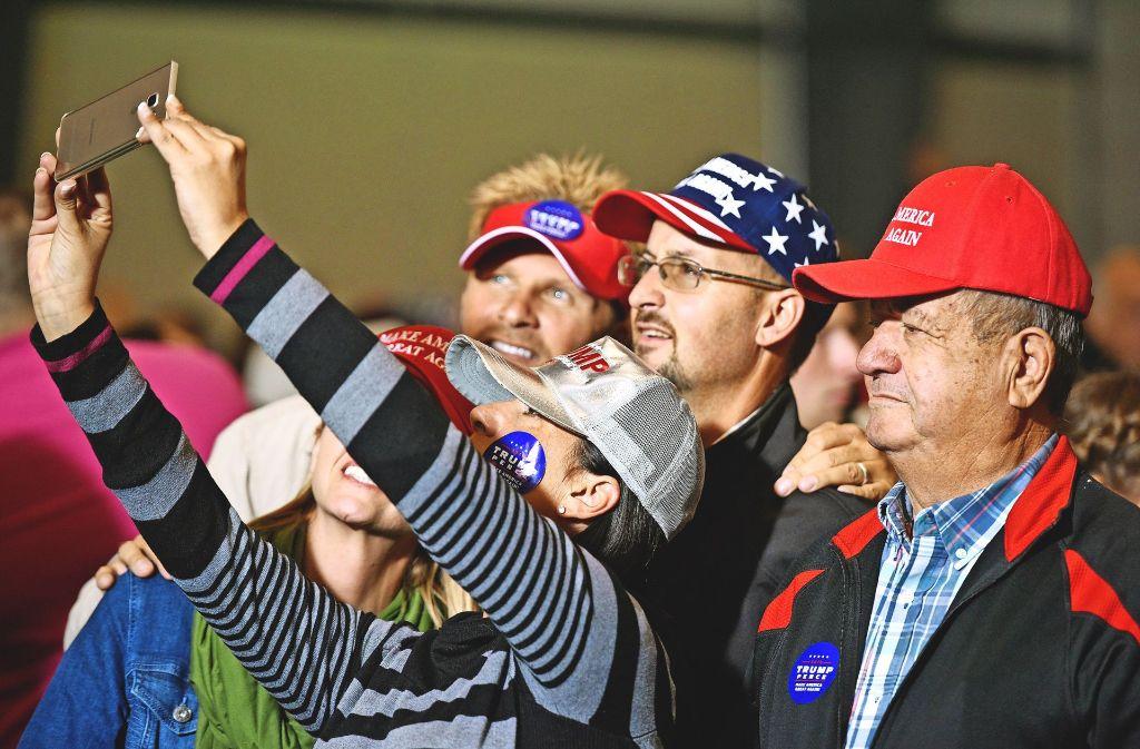 Donald Trump hat seine Fans – wie hier in Ohio. Foto: AFP