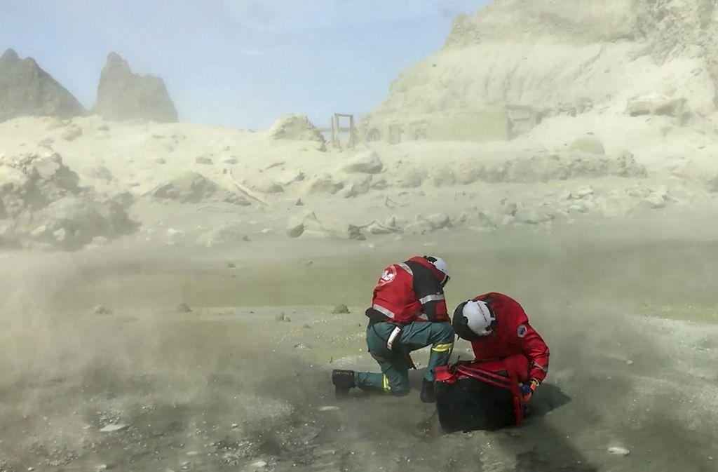 White Island bleibt wegen der Gefahr eines neuenAusbruchs  weiterhin gesperrt. Foto: dpa/XinHua