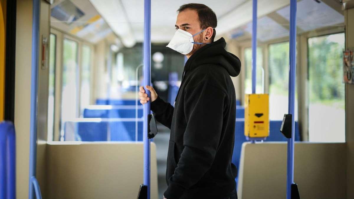 Verkehrsbetriebe setzen weiter auf die Maske