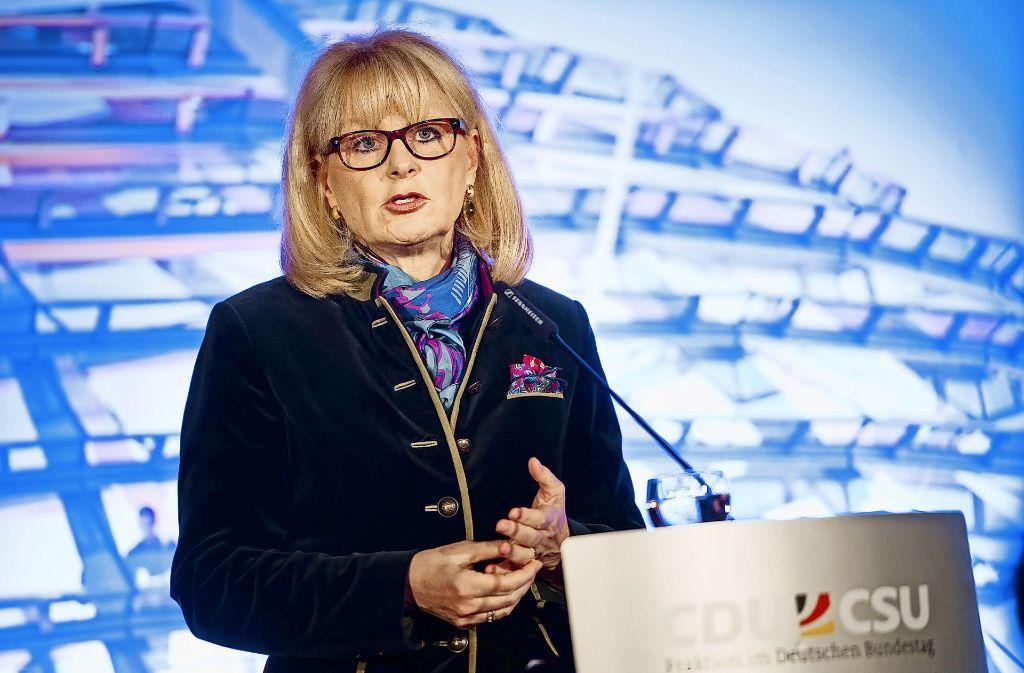 """Die Stuttgarter CDU-Bundestagsabgeordnete Karin Maag ist eine der Initiatoren des """"Appells an die Verantwortung"""". Foto: dpa"""