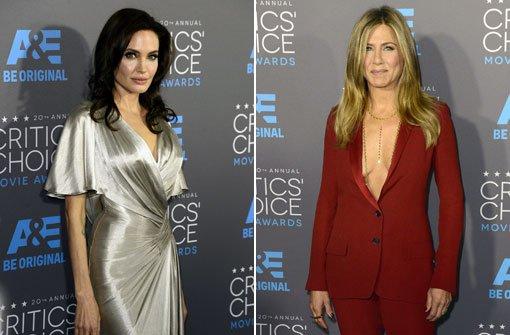 Angelina und Jen modetechnisch vorn