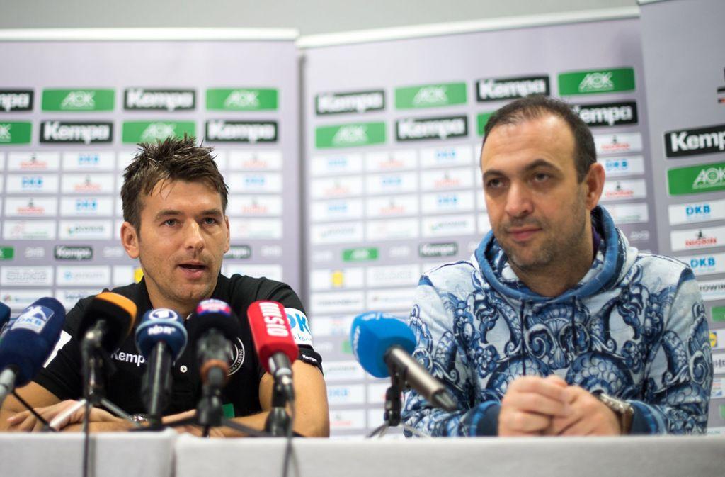 Lobt die Entwicklung seines  Trainers  Christian Prokop: DHB-Vizepräsident Bob Hanning (re.) Foto: dpa