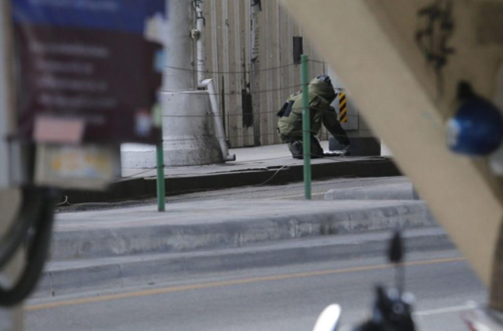 Bei den Bombenanschlägen von Bangkok sind 20 Menschen ums Leben gekommen. Foto: dpa