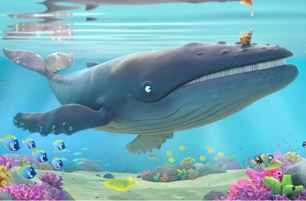 """Im Trickfilm """"The Snail and the Whale"""" schließen zwei ungleiche Tiere Freundschaft miteinander. Foto: Magic Light Pictures"""