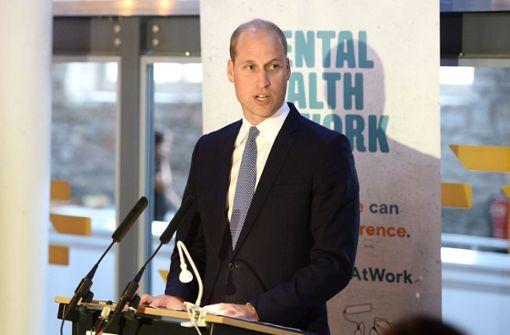 Prinz William spricht über das, was ihn lange belastete