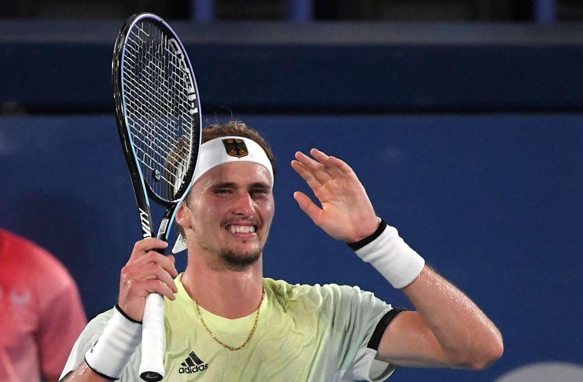 Alexander Zverev besiegte im Halbfinale Novak Djokovic. Foto: AFP/TIZIANA FABI