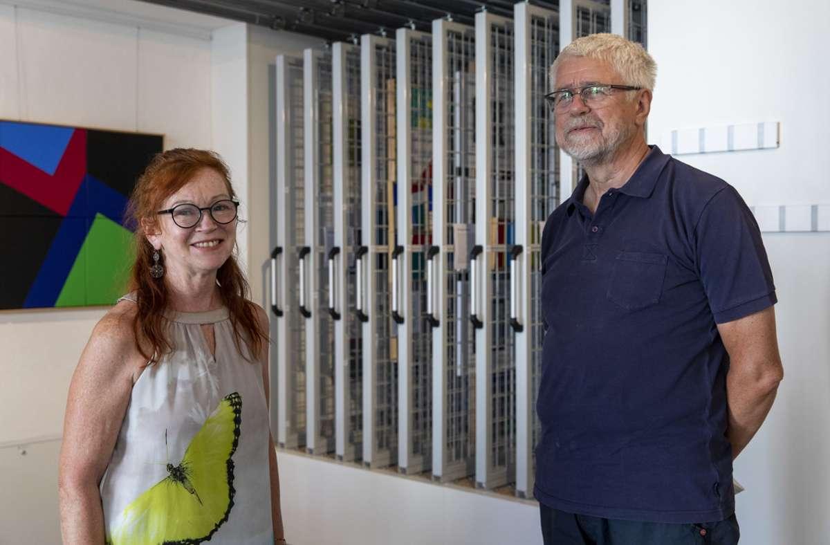 Bettina Wyderka und Michael Schäfer haben sich am Wettbewerb beteiligt und es mit ihren Entwürfen auf die Plätze 2 und 1 geschafft. Foto: Frank Eppler