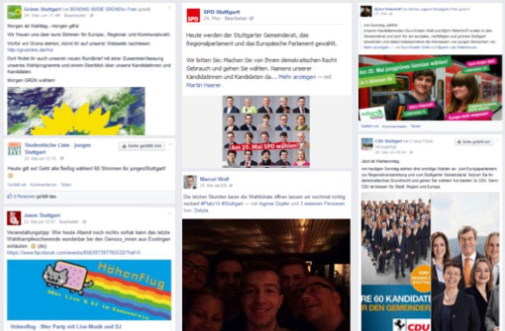 Aktivitäten verschiedener Parteien in den sozialen Netzwerken: Experten kritisieren, die Posts müssten emotionaler und interessanter werden.  Foto: HdM