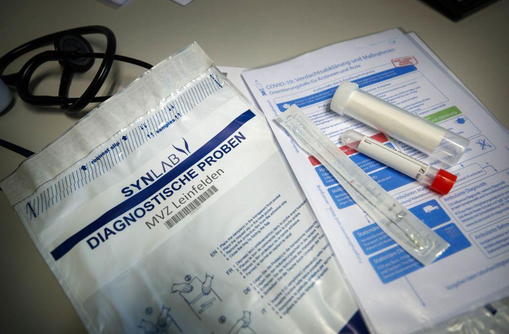 Hier im Corona-Testzentrum in Schorndorf hat sich auch unsere Mitarbeiterin auf das Virus testen lassen. Foto: Gottfried Stoppel
