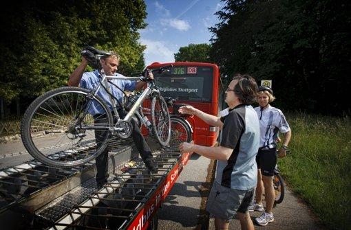 Rad-Busse starten zum Reußenstein