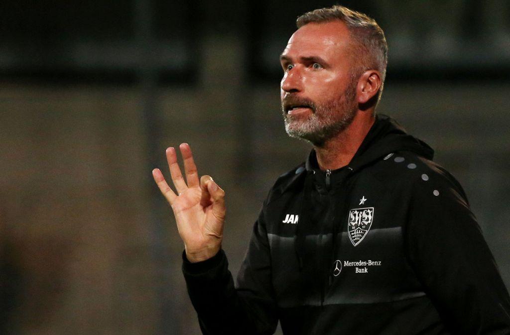 Ein Freund klarer Worte: Tim Walter, der Trainer des VfB Stuttgart Foto: Baumann