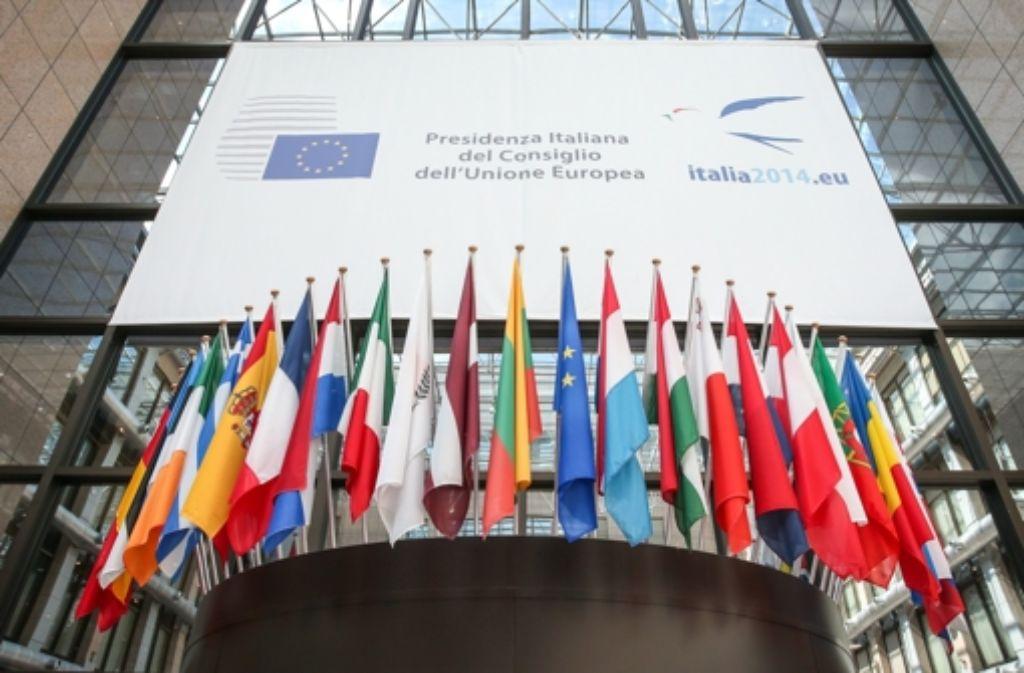 """Hier tagt der EU-Rat – also der mit """"t"""", und nicht mit """"d"""". Foto: EPA"""