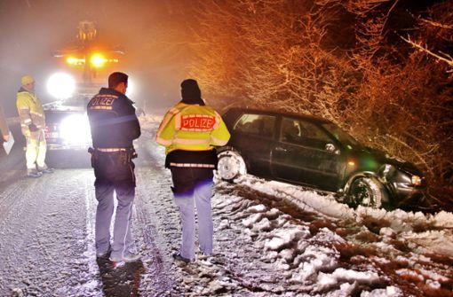Schneeglätte im Rems-Murr-Kreis  fordert Tribut