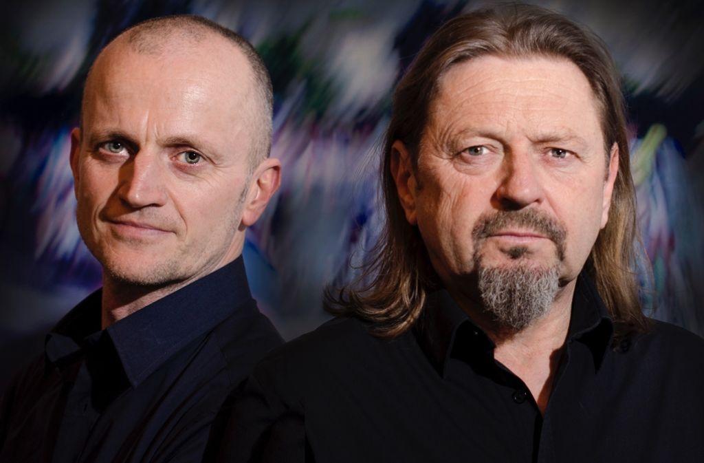 Peter Gallert (links) und Jörg Reiter haben sich zusammengetan, um Thriller zu schreiben. Foto: Oliver Stroemer