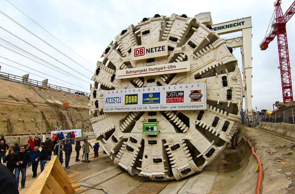 """Tag der offenen Baustelle 2016: Inzwischen ist die Tunnelbohrmaschine """"Suse"""" demontiert. Foto: Lichtgut/Julian Rettig"""