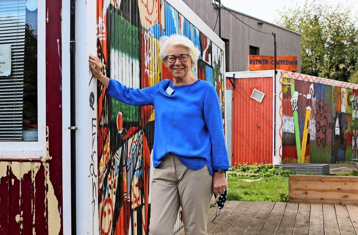 Ariane Müller-Ressing sagt, Corona habe vieles verschärft in der Asylunterkunft. Foto: Caroline Holowiecki
